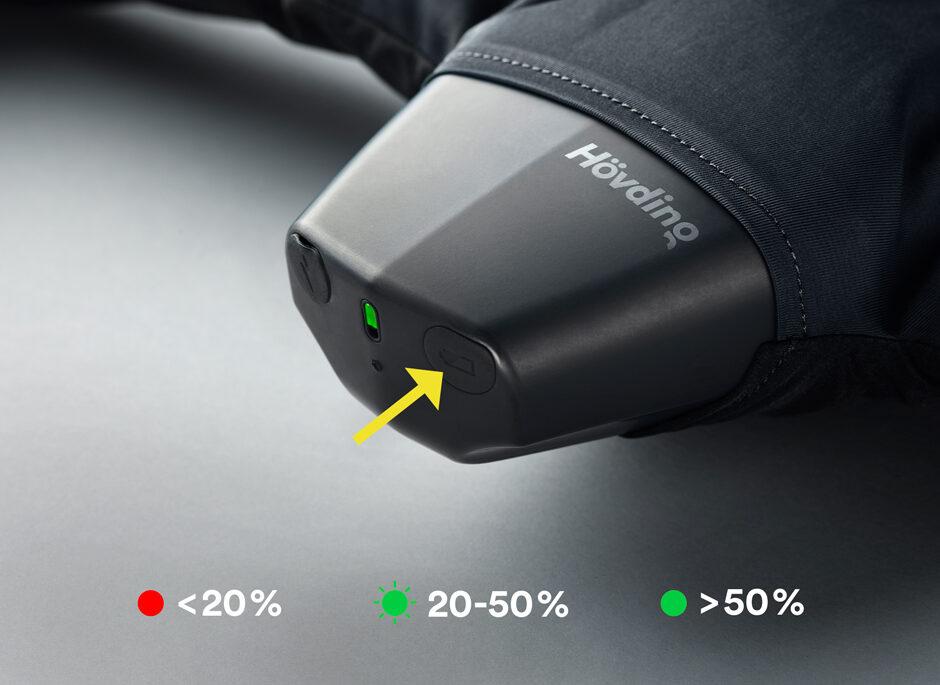 Battery check Hövding 3