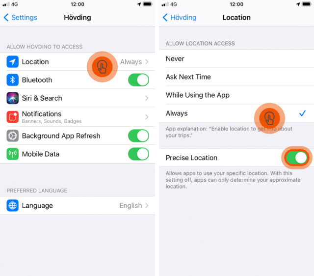 Hövding App guide: Trips are not being registered