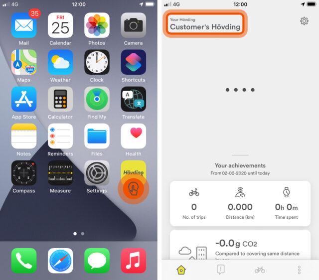 Hövding App guide: Hövding status does not update correctly