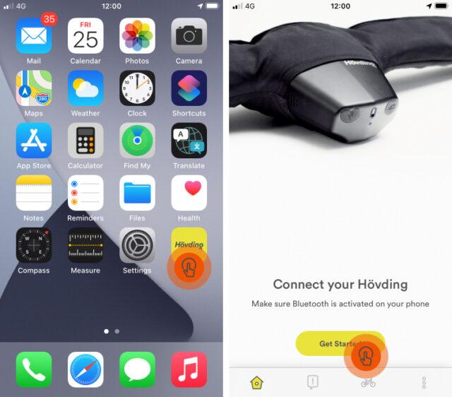 Hövding App Guide: Remove or reconnect Hövding